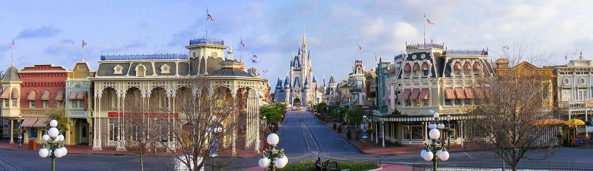 Ein Bild der Main Street in Walt Disney World
